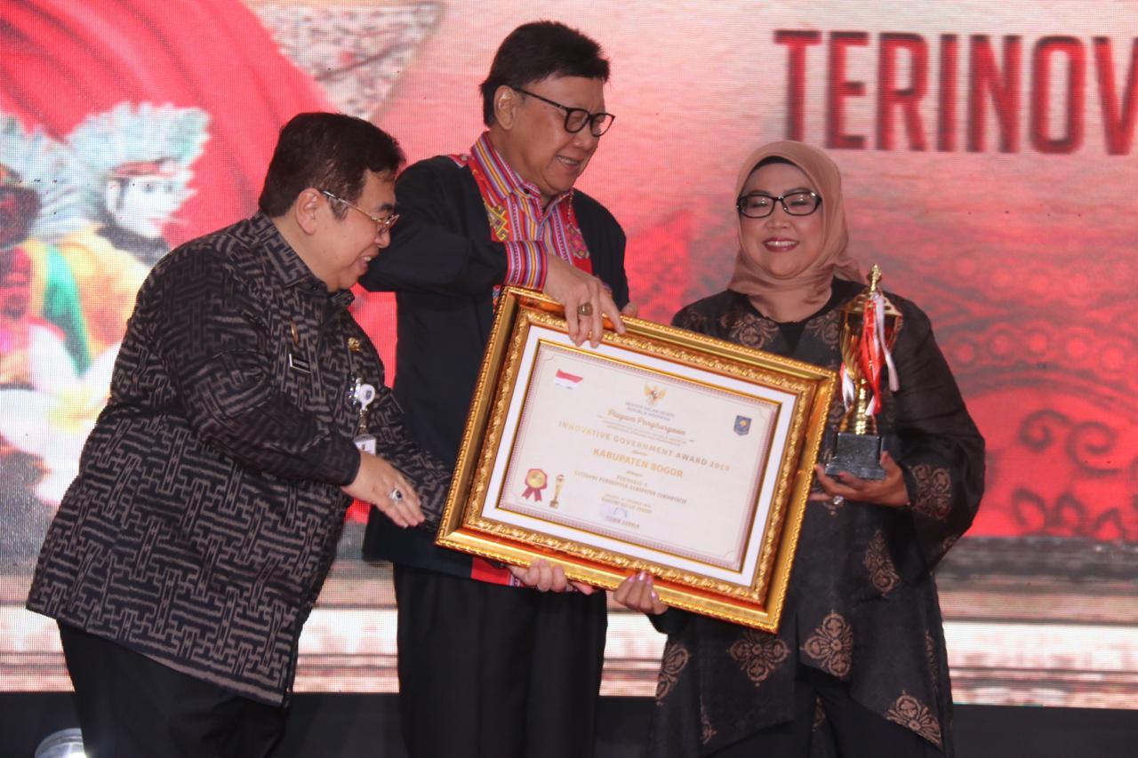Kabupaten Bogor Masuk 10 Besar Kabupaten Terinovatif di Indonesia