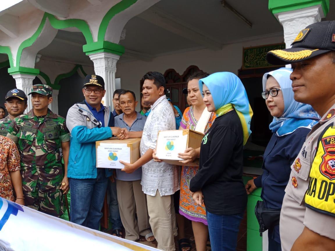 Peninjauan Lokasi Bencana di Kabupaten Bogor