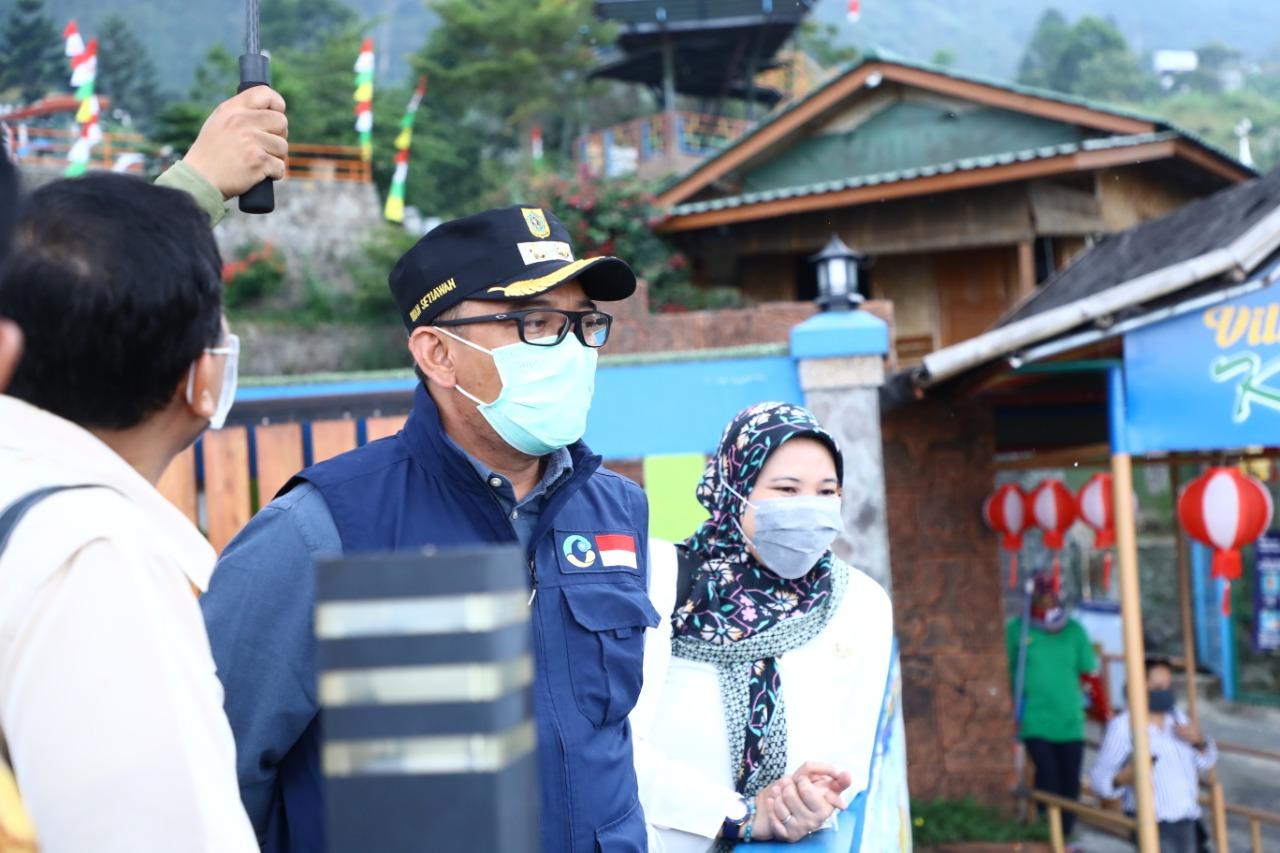 Wabup Tinjau Sektor Pariwisata di Kecamatan Sukamakmur