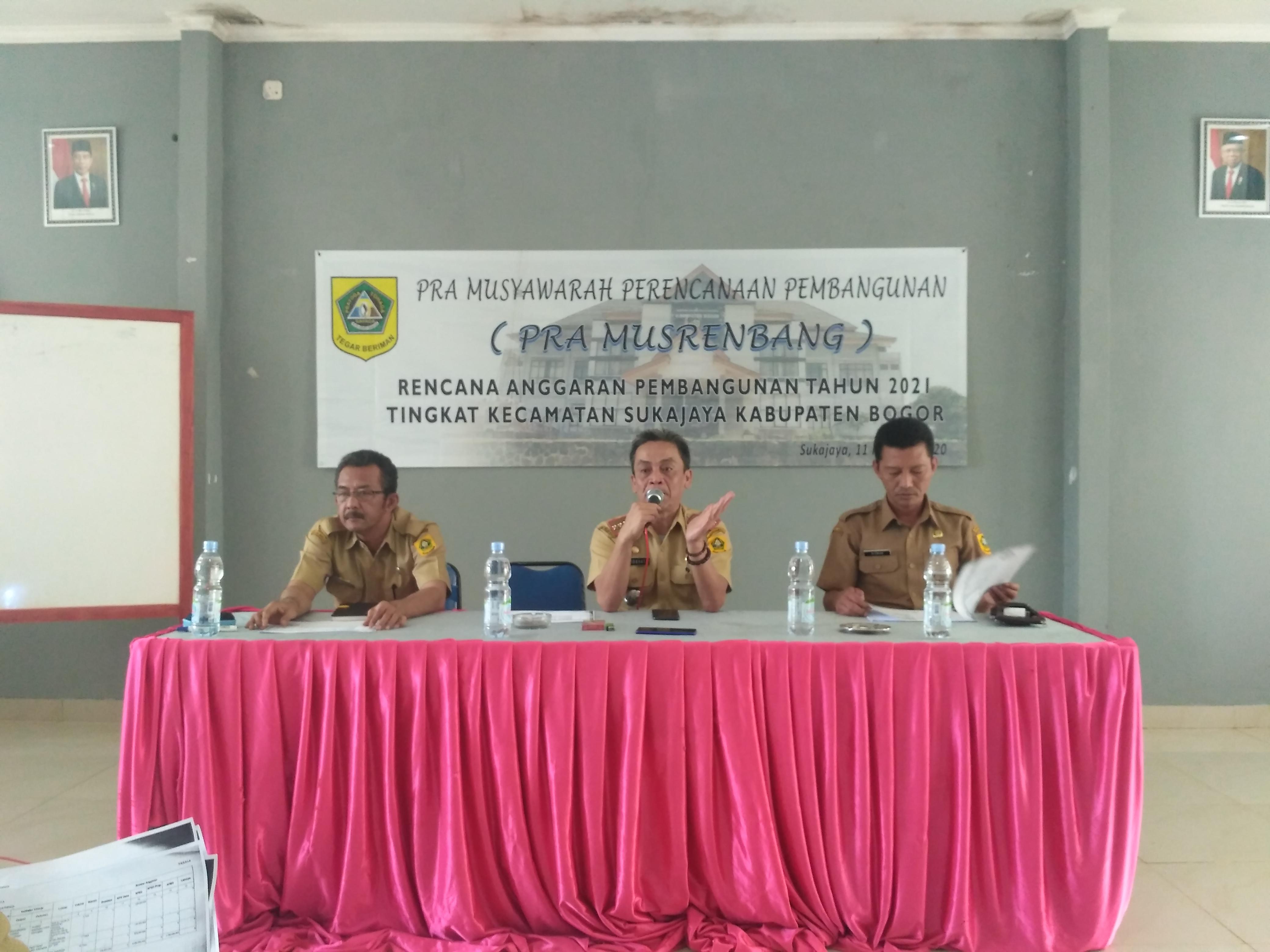 Pra Musrenbang Kecamatan Sukajaya Kabupaten Bogor