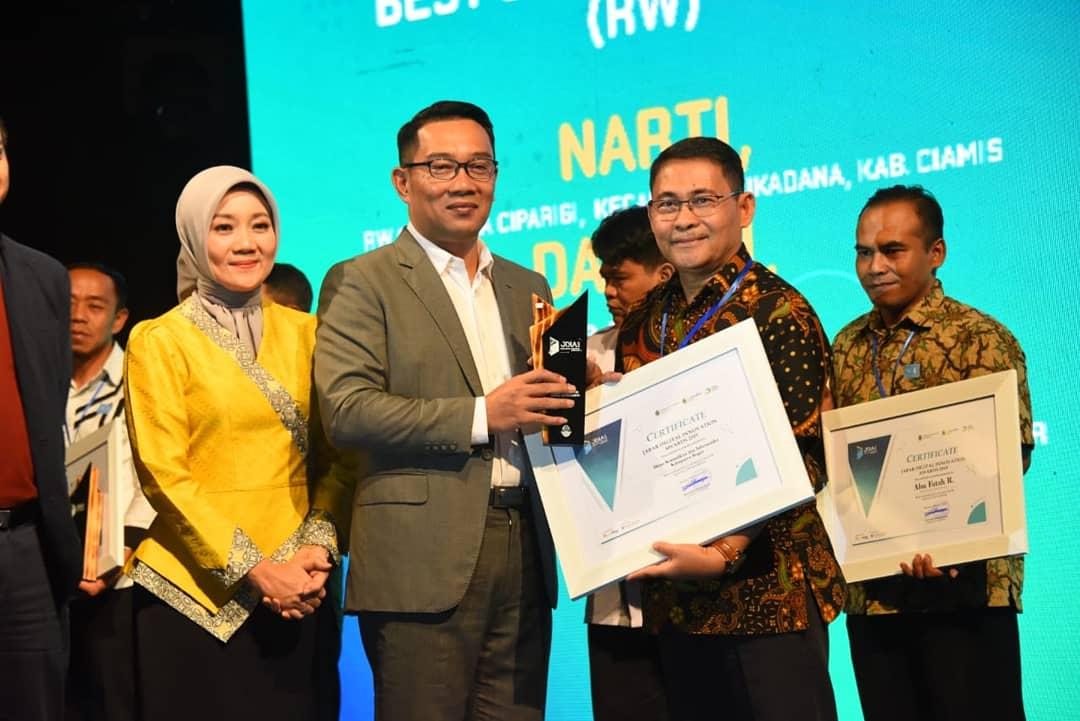 Pemprov Jabar Anugerahi Diskominfo Kabupaten Bogor Sebagai Best Sapawarga Administrator (Local Goverment) Tahun 2019