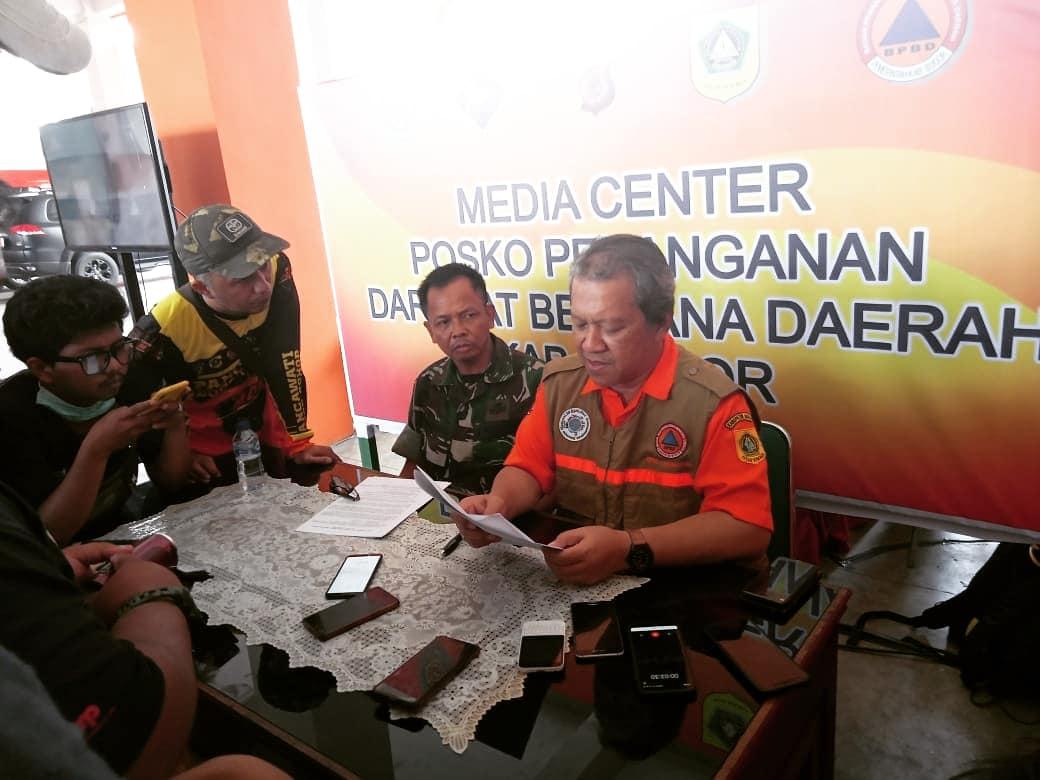 Update terbaru Posko Utama Penanganan Bencana Alam Kabupaten Bogor