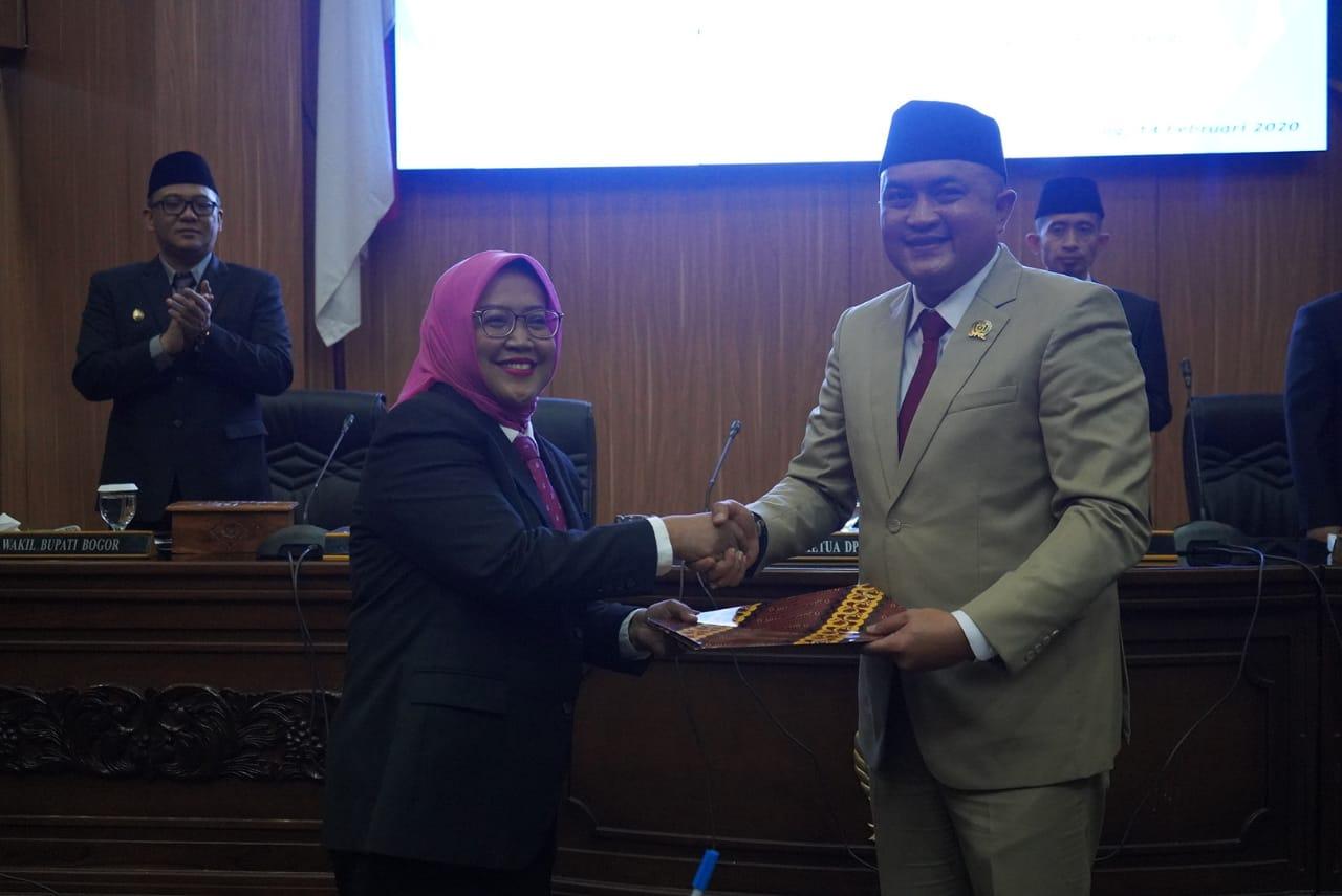 Sidang Paripurna DPRD Kabupaten Bogor Sampaikan Dua Raperda