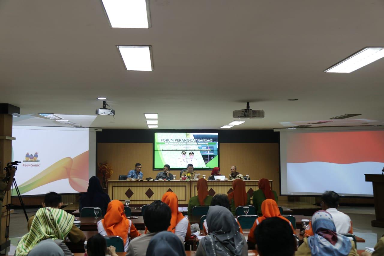 Singkronisasi Program Kegiatan 2021 Diskominfo Kabupaten Bogor Lakukan Penandatangan Kesepakatan Bersama Melalui Forum PD