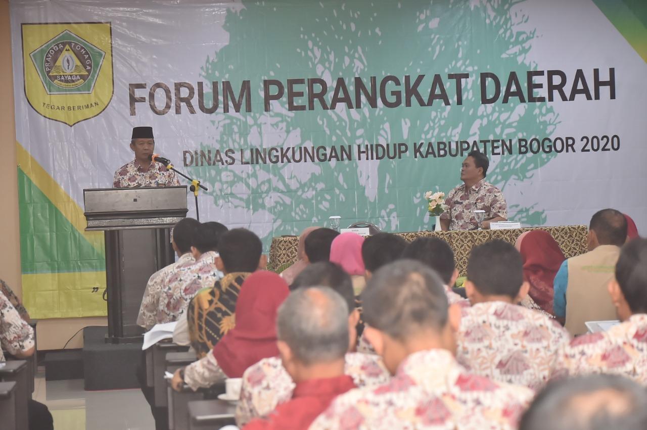 Sekda Kab. Bogor Hadiri Forum Perangkat Daerah DLH