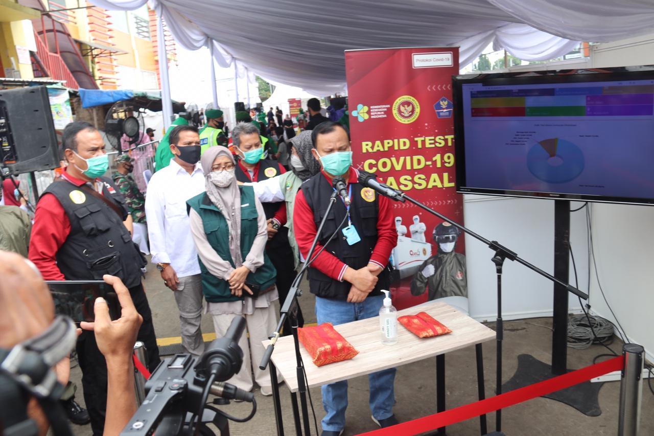 Setelah Pasar Cibinong, BIN Kembali Gelar Rapid Tes di Pasar Ciawi Bogor