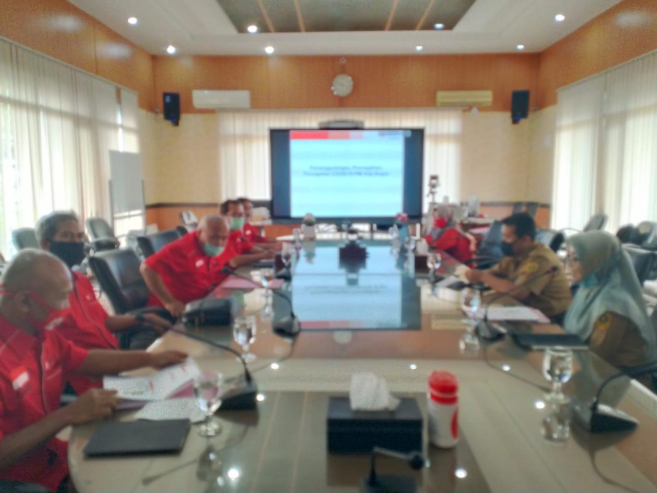 Bantu Pemkab Bogor Percepat Penanggulangan dan Pencegahan Penyebaran Covid-19 PMI ajak Gugus Tugas Covid-19 Berkolaborasi