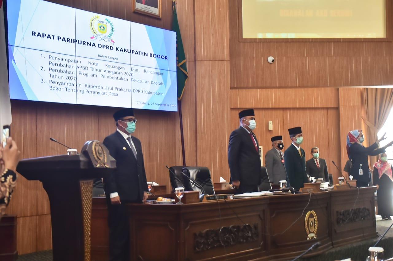Wabup Bogor Sampaikan Nota Keuangan Perubahan APBD Tahun 2020