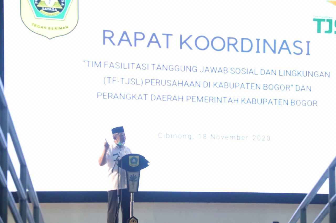 Sekda :  Tingkatkan Sinergitas Antara Perangkat Daerah Dengan Tim Fasilitator TJSL Kabupaten Bogor