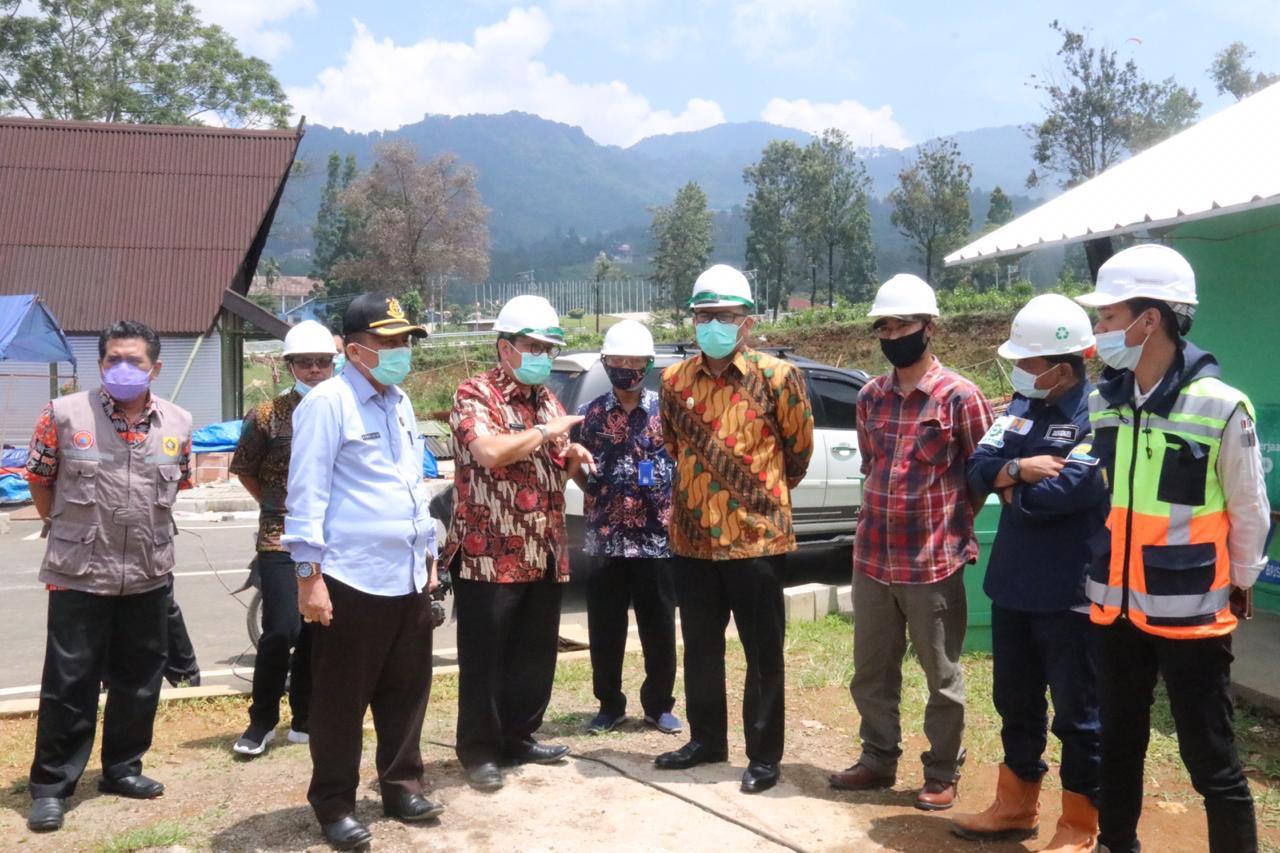 Tinjau Pembangunan Rest Area Gunung Mas Puncak Cisarua, Wabup Bogor: Akhir Tahun Pembangunan Harus Selesai