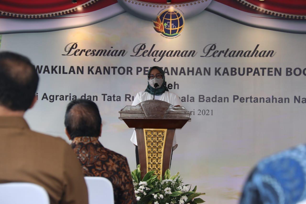 Bupati Bogor Harap Pelayanan Pertanahan Berkualitas, Dengan Diresmikannya Kantor Perwakilan Di Wilayah Timur Kabupaten Bogor