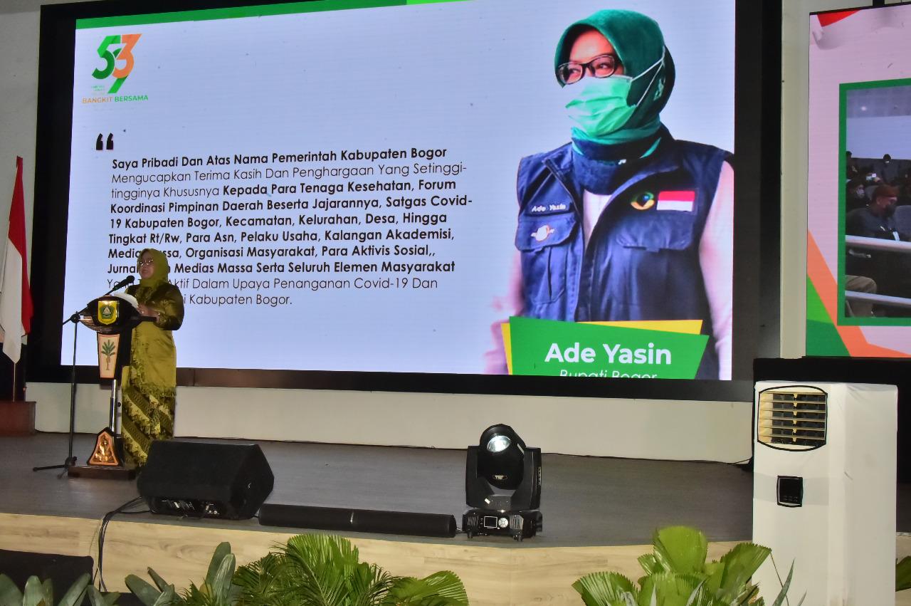 Bupati Bogor Berharap Peringatan HJB ke-539 Tidak Menurunkan Semangat  Solidaritas dan Gotong Royong Untuk Pulihkan Ekonomi Kabupaten Bogor di Tengah Pandemi