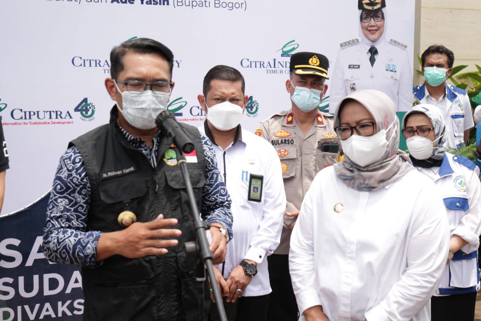 Bupati Bogor : Cakupan Vaksinasi Covid-19 Wilayah Jonggol Melesat di angka 40%