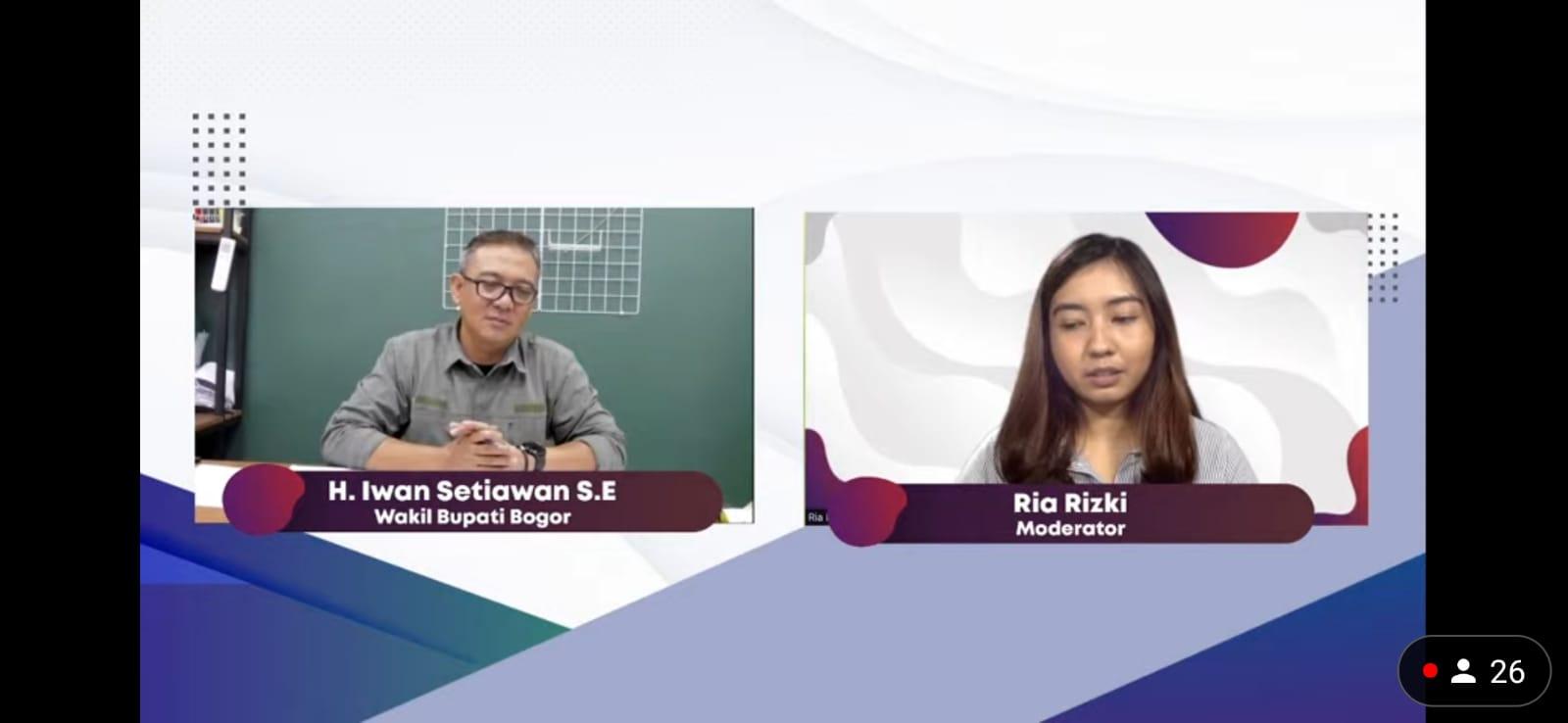 Secara Virtual Wakil Bupati Bogor Diskusi Upaya Antisipasi Kepadatan Kawasan Puncak di Masa PPKM