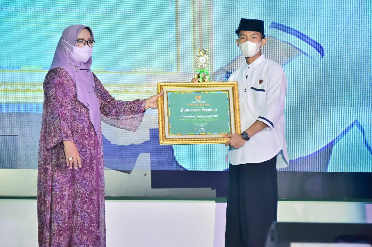 Pada Hari Santri, Pemkab Bogor Tebar Penghargaan Untuk Para Santri Pemenang Lomba Musabaqoh Qiroatil Kutub dan Video kreatif Nadzom AlFiyah