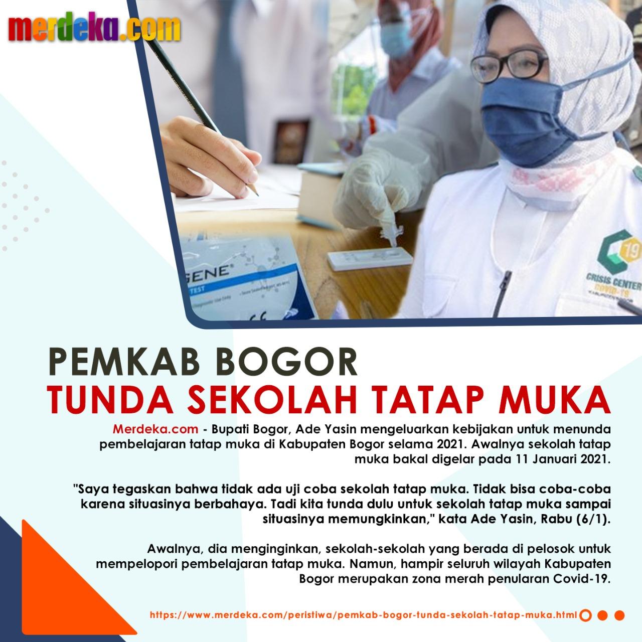 """Pemkab Bogor """"Tunda Sekolah Tatap Muka"""""""
