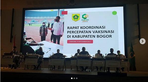 Rakor Forkopimda Percepatan Vaksinisasi Di Kabupaten Bogor Di Ruang Auditorium Setda