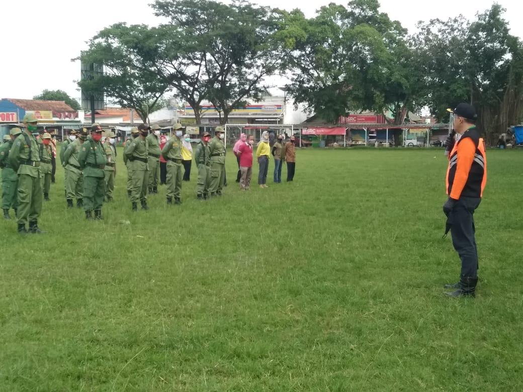 Apel Gelar Pasukan  Persiapan Pemilihan Kepala Desa Kecamatan Cariu