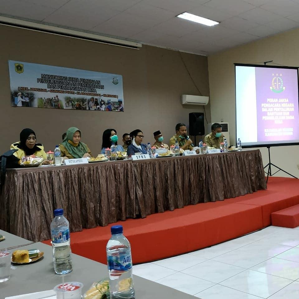 Monitoring Serta Pembinaan Penyelenggaraan Pemerintahan dan Pembangunan Desa Se Kecamatan (Jonggol-Gunung Putri- Klapanunggal- Cileungsi)