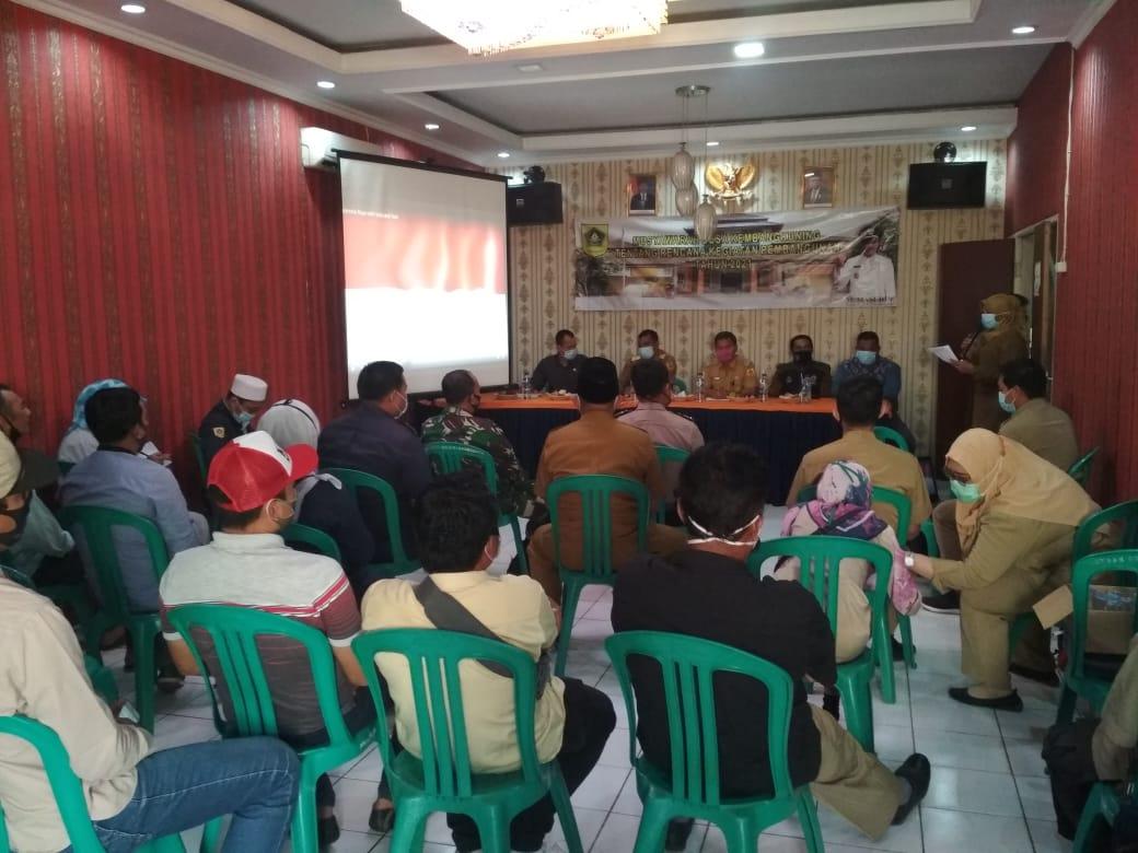 Musdes Penyusunan RKPDes Tahun 2021 dan penyampaian laporan realisasi APBDes Semester I Ds.Kembang Kuning