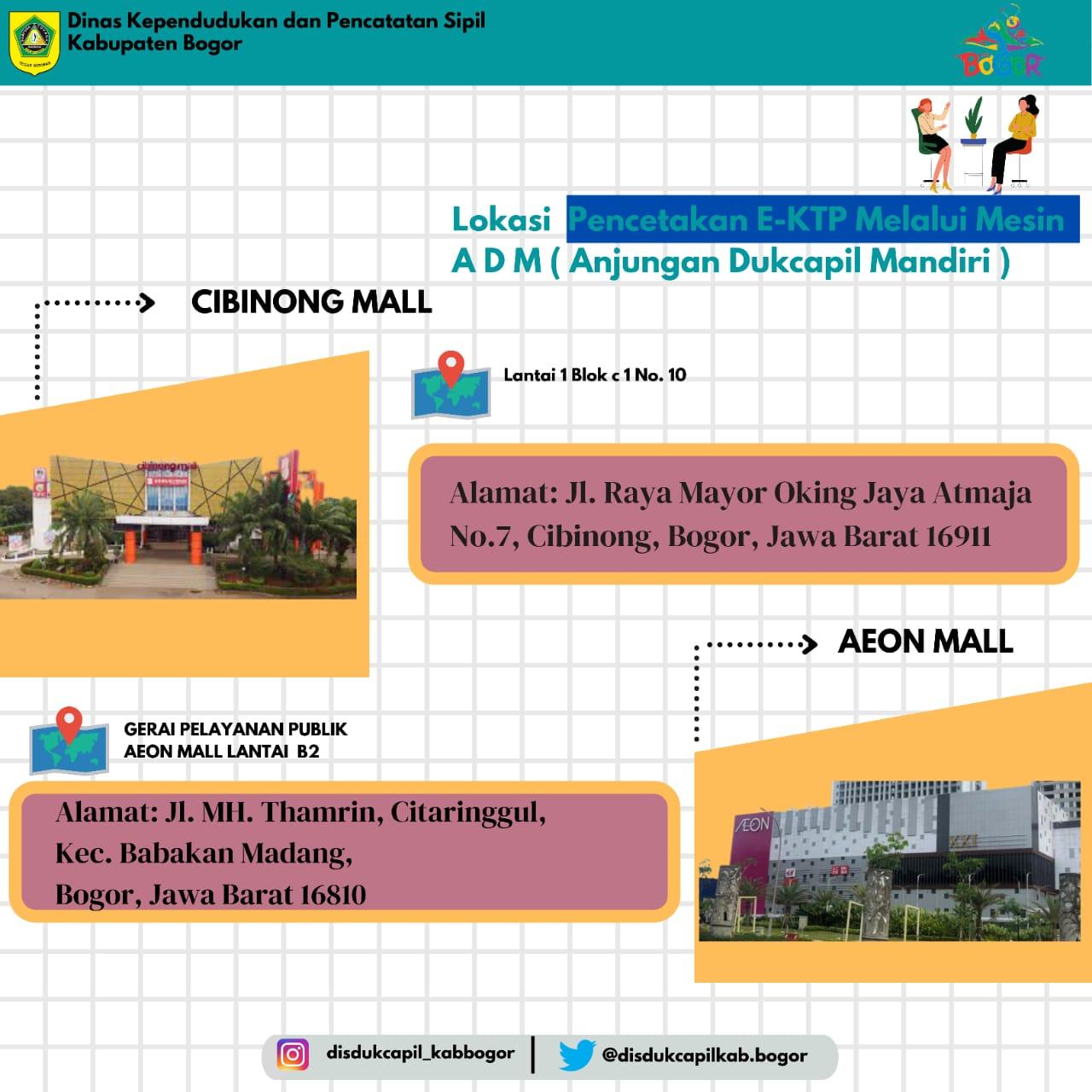 Cetak E-KTP Melalui Mesin ADM Kini Hadir di Cibinong Mall & AEON Mall