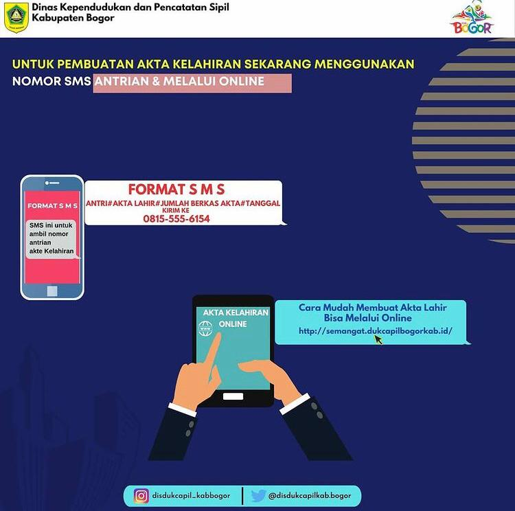 Pembuatan Akta Kelahiran Dibuka Melalui SMS & Online