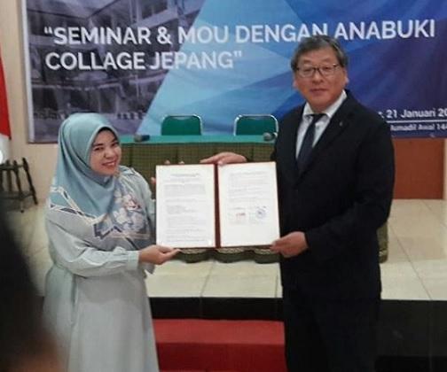 SMK AMALIAH JALIN MoU DENGAN ANABUKI COLLAGE