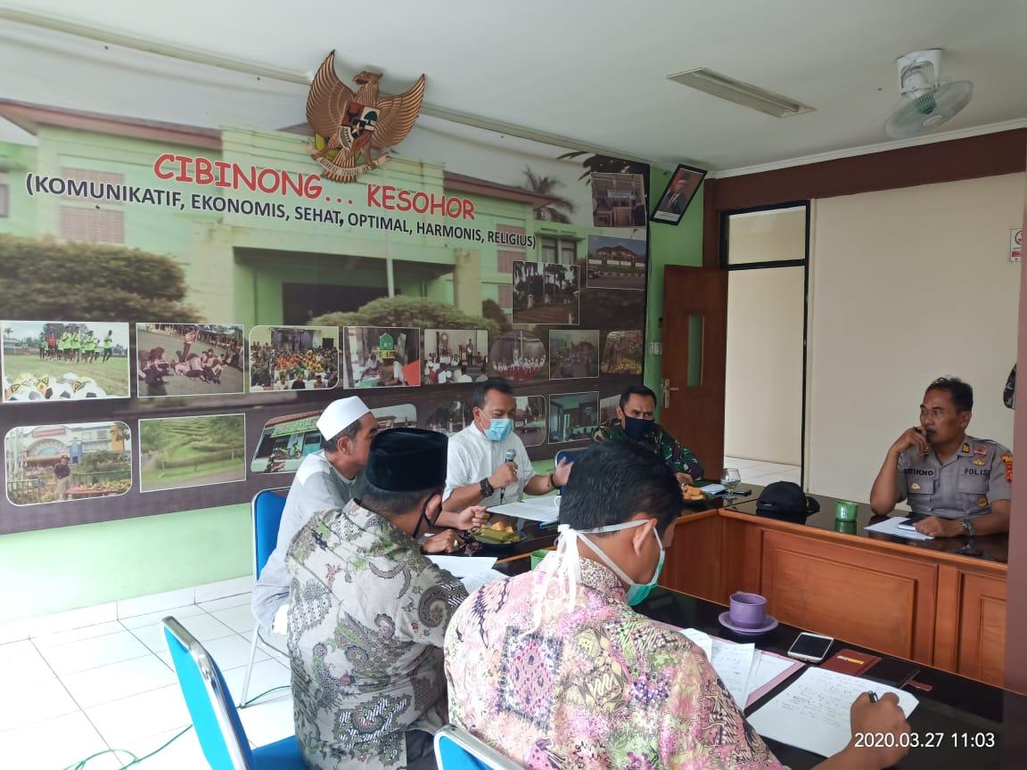 Pembentukan Satgas Pencegahan Virus Corona Kecamatan Cibinong