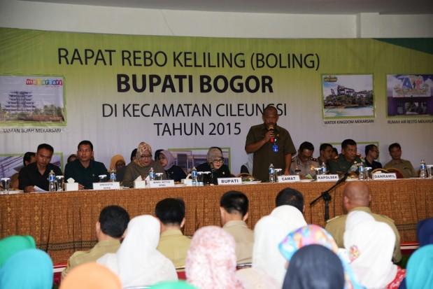 Bupati Bogor Janjikan Perbaikan Sejumlah Infrastruktur Jalan Di Cileungsi