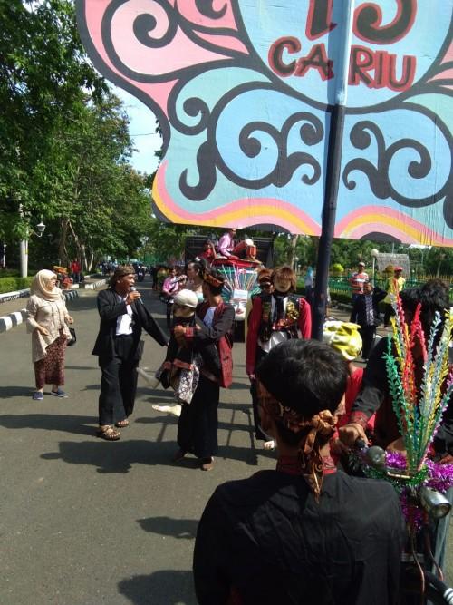 kecamatan Cariu meramaikan acara Festival daerah di pemda kab. Bogor
