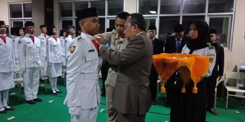 Pengukuhan Anggota Paskibra TK Kecamatan Cibinong Tahun 2019
