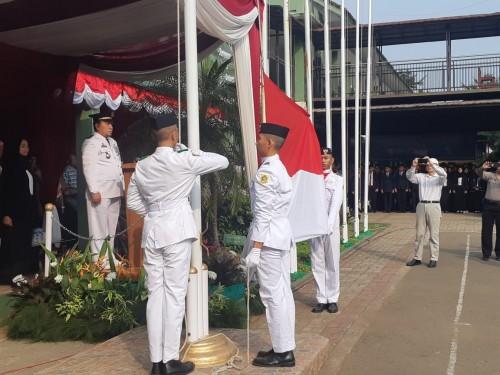 Upacara Peringatan HUT Republik Indonesia ke 74 Tk.Kecamatan Cibinong