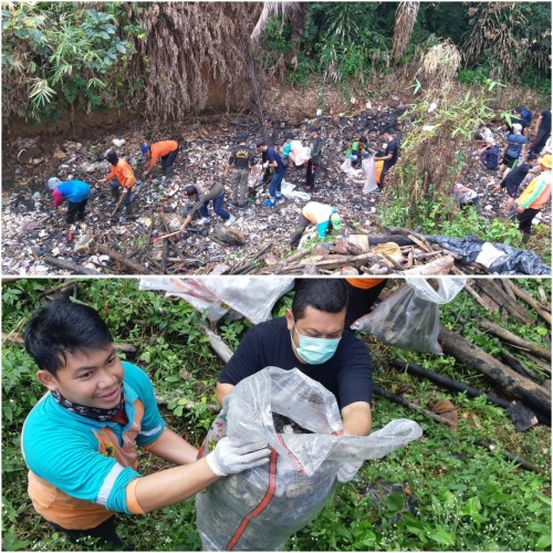Giat Jumat Bersih di Kali Baru Kel.Pakansari Kec.Cibinong