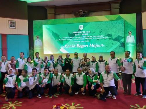 """Program 100 hari BUPATI Bogor """"""""LAUNCHING  INOVASI PELAYANAN ADMINISTRASI KEPENDUDUKAN DAN GISA"""""""""""