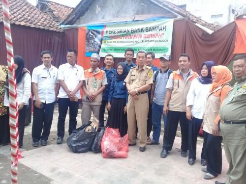 Peresmian Bank Sampah Desa Sadeng Kecamatan Leuwisadeng