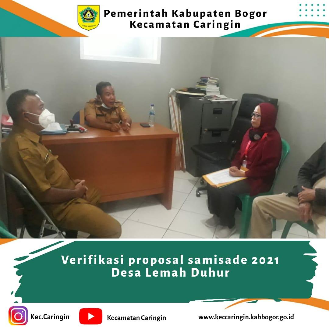 Verifikasi Proposal Samisade 2021 Desa Lemah Duhur
