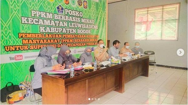 Kegiatan audit ketaatan Oleh inspektorat Di aula Kantor kecamatan Leuwisadeng