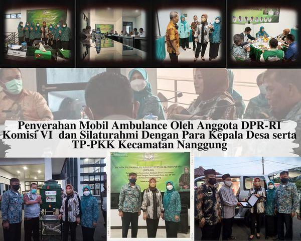 Kunjungan Anggota DPR-RI komisi VI ibu Hj. Elly Rachmat Yasin ke Kecamatan Nanggung