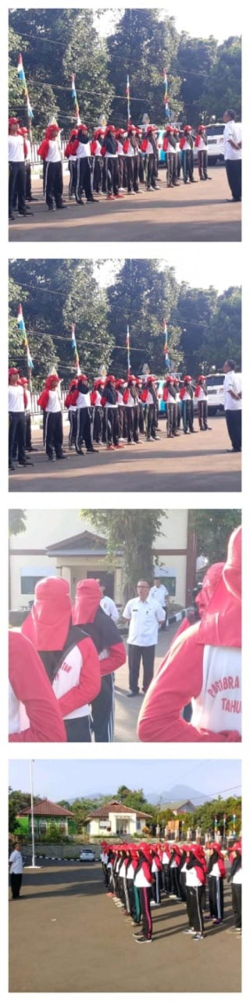 Latihan Persiapan Paskibra kecamatan tamansari